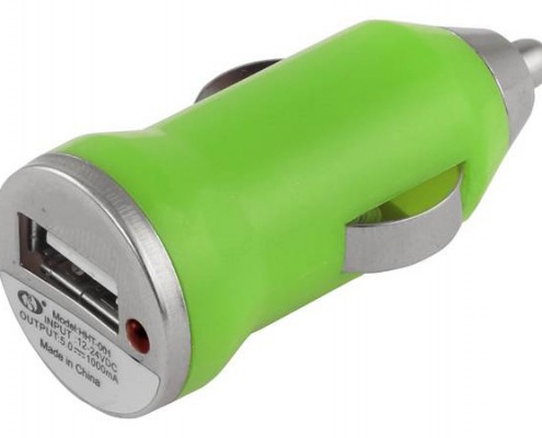 Green usb adapter for cars