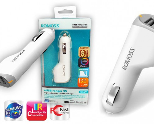 Romoss car charger for laptops